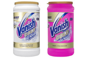 2 tubs of Vanish Gold Oxy Action Crystal White and Oxi Action