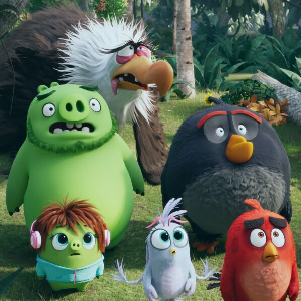 Image of main characters in Angry Birds 2 Movie to promote the fact that YOMM members can WIN tickets to see Angry Birds 2